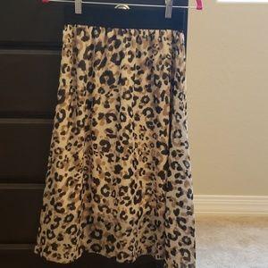 LuLaRoe Leopard Print Lucy Skirt XS